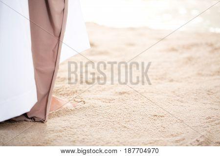 Jesus Walking Along The Ocean