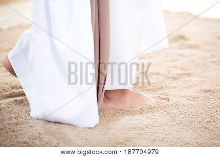 Christ Walking On Sand