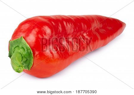 red pepper isolated on white background eating, parsley, healthcare, raw, portion, freshness