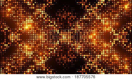 Random Sized Dot Shapes With Brights And Darks. Disco Theme.