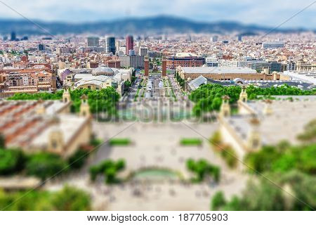 Barcelona Attractions, Plaza De Espana, Catalonia, Spain.