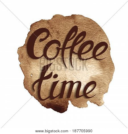 Coffee design template, ring stain for cafe card, logo, list, menu.