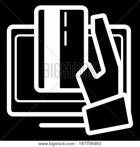 Online banking vector icon. Black and white internet payment illustration. Outline linear icon. eps 10