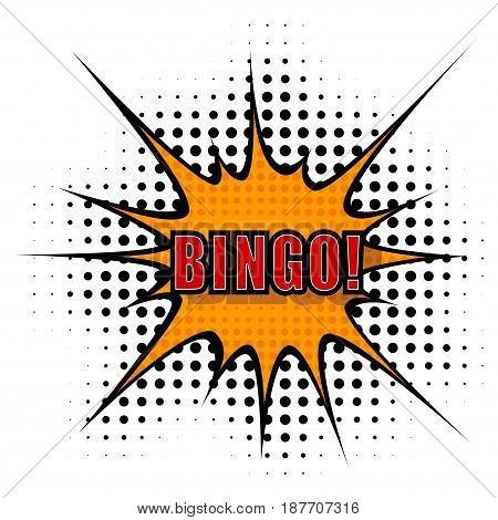 Vector Cartoon bingo. isolated on a white background.