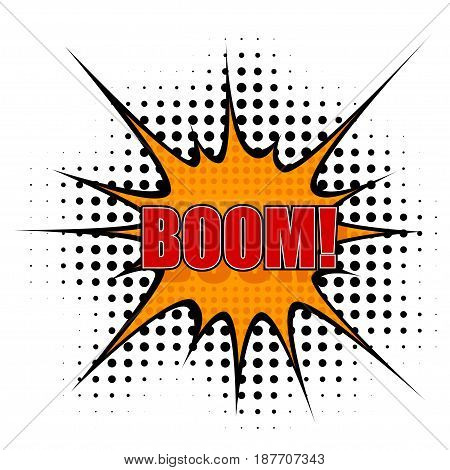 Vector Cartoon boom. isolated on a white background.