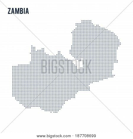 Vector Dotted Map Of Zambia Isolated On White Background .