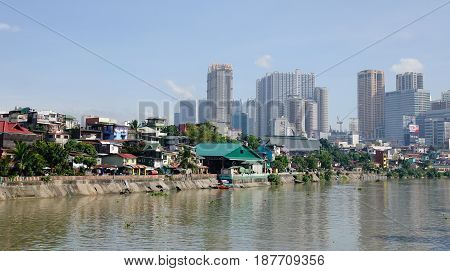 Cityscape Of Metro Manila In Philippines