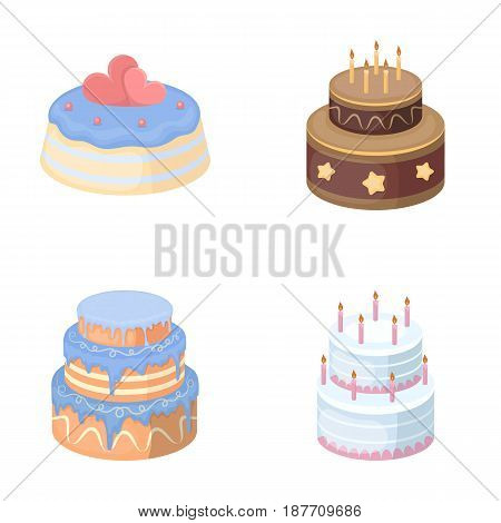 Sweetness, dessert, cream, treacle .Cakes country set collection icons in cartoon style vector symbol stock illustration .