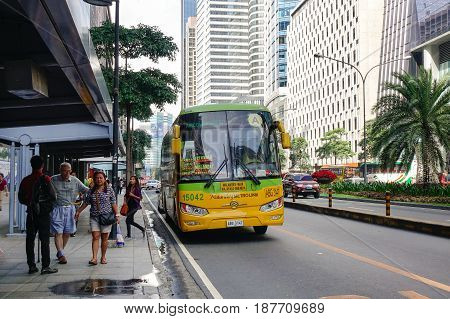 Street At Downtown In Manila, Philippines