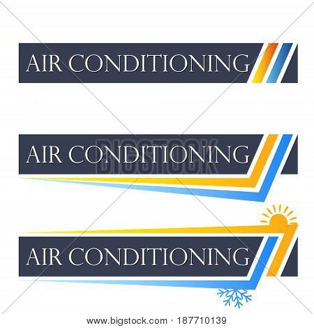 Air conditioner set symbol for business vector