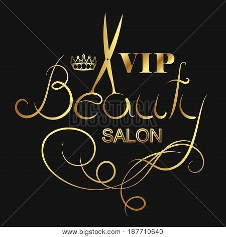 Beauty salon and hairdresser VIP symbol vector