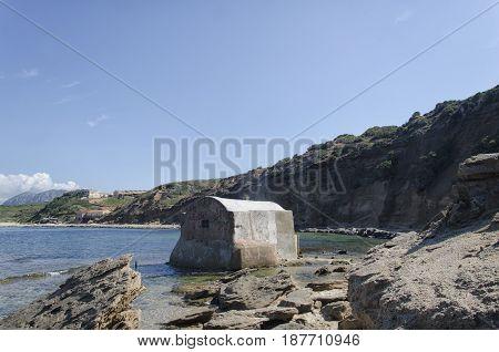View of a Buen retiro on the Sardinian coast