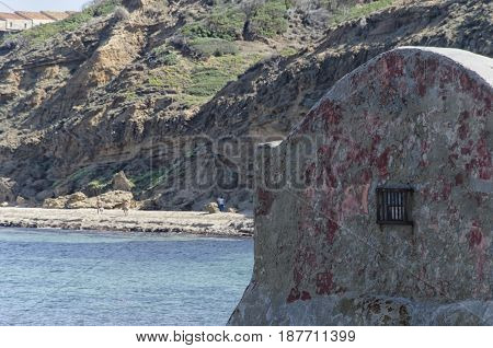 View of a Buen retiro on the Italian coast