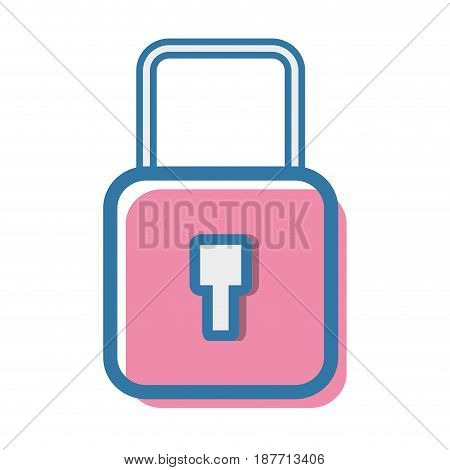 security padlock key to protection information, vector illustration