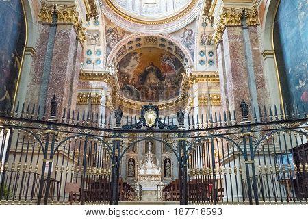 Bologna, Italy - May 6, 2016:  A chapel of the St Domenico basilica