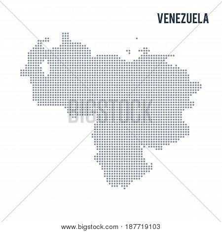 Vector Dotted Map Of Venezuela Isolated On White Background .