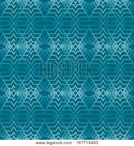 Seamless abstract background with classic line patterns oriented in strips on dark green area, 3d optical art illusion vector EPS 10