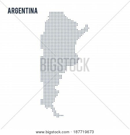 Vector Dotted Map Of Argentina Isolated On White Background .