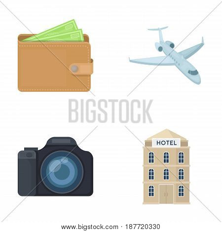 Vacation, travel, wallet, money .Rest and travel set collection icons in cartoon style vector symbol stock illustration .