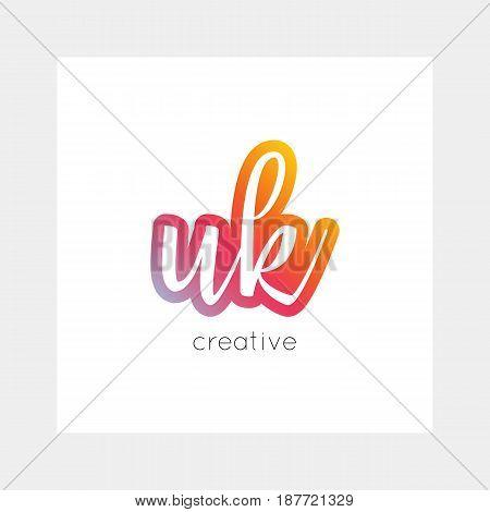 Uk Logo, Vector. Useful As Branding, App Icon, Alphabet Combination, Clip-art.