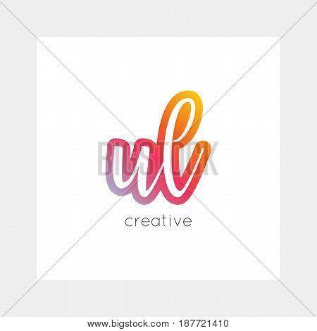 Ul Logo, Vector. Useful As Branding, App Icon, Alphabet Combination, Clip-art.