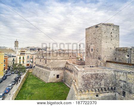 Old Fortress In City Center Of Bari, Puglia, Italy