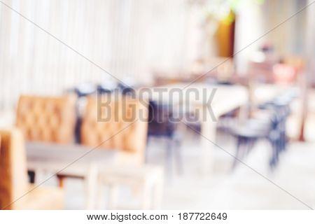 Blurred background : blur restaurant in vintage style