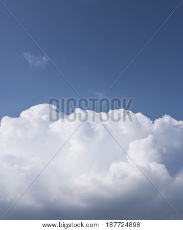 White cloud and blue sky in spring