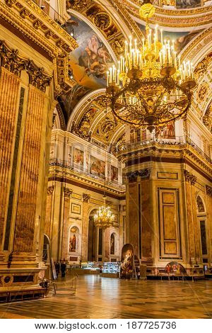St. Isaac's Cathedral in St. Petersburg, Russia. Architectural monument.
