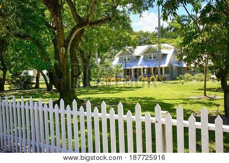 Fort Myers, FL, USA - 07/01/2016: The Edison & Ford Winter Estates in Fort Myers FL