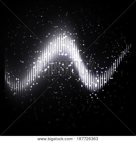 Abstract equalizer black white geometric background. Vector illustration