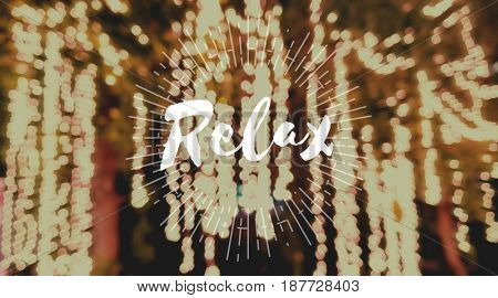Relax Word with Blurred Light Background