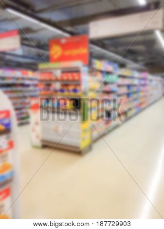 Abstract blur  shop at supermarket