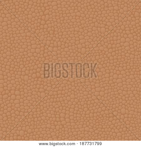 Leather seamless brown background pattern, skin texture. Vector illustration.