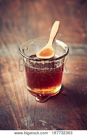 Honeydew Honey in a Glass