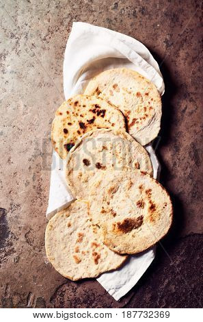 Wholegrain Indian Chapatis (unleavened flat bread)