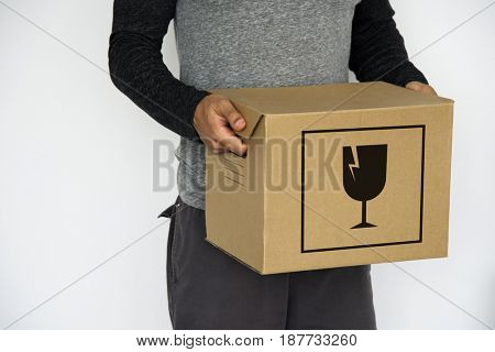 Fragile Handle With Care Warning Vector Graphic