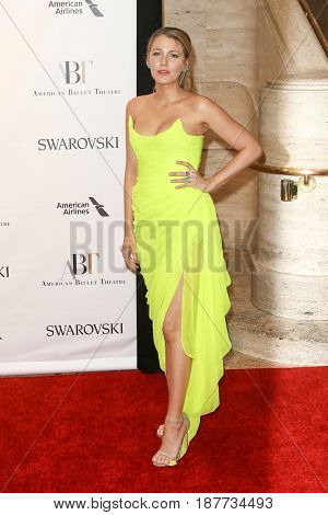 NEW YORK-MAY 22: Blake Lively attends the American Ballet Theatre 2017 Spring Gala at David H. Koch Theater at Lincoln Center on May 22, 2017 in New York City.