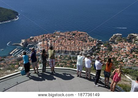 Cable Car station on the hill Srd Connects old town Dubrovnik and hill Srd