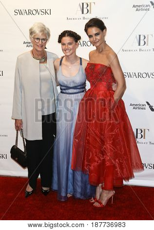 NEW YORK-MAY 22: (L-R) Kathleen Stothers-Holmes, Kathleen Hurley and Katie Holmes attend the American Ballet Theatre 2017 Spring Gala at David H. Koch Theater on May 22, 2017 in New York City.