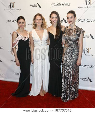 NEW YORK-MAY 22: (L-R) Betsey McBride, Scout Forsythe, April Giangeruso & Claire Davison attend the American Ballet Theatre 2017 Spring Gala at David H. Koch Theater on May 22, 2017 in New York City.