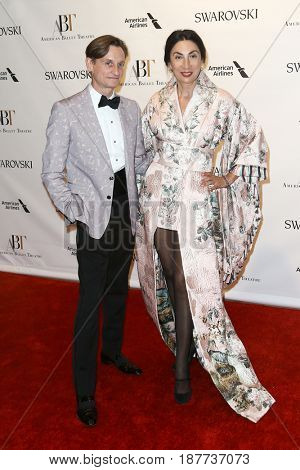 NEW YORK-MAY 22: Hamish Bowles (L) and Anh Duong attend the American Ballet Theatre 2017 Spring Gala at David H. Koch Theater at Lincoln Center on May 22, 2017 in New York City.