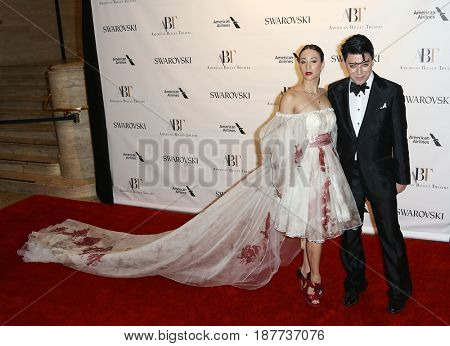 NEW YORK-MAY 22: Georgina Pazcoguin (L) and Malan Breton attend the American Ballet Theatre 2017 Spring Gala at David H. Koch Theater at Lincoln Center on May 22, 2017 in New York City.