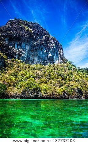 limestone formations in the Adaman sea, Thailand