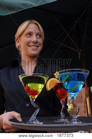 Server With Cocktails