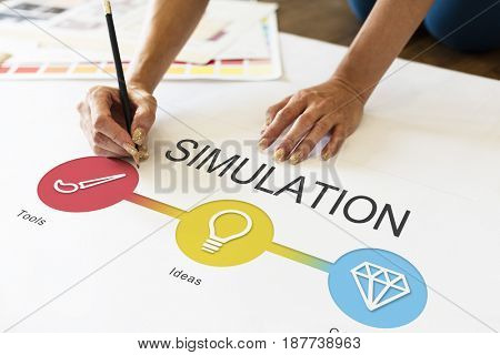 Simulation Making Notes Education Concept