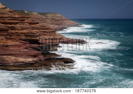 Western Australia coastline with  high cliffs
