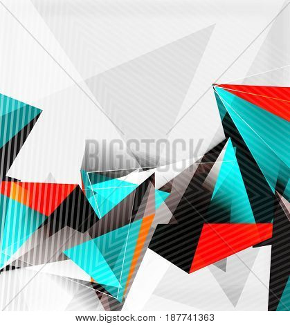 3d triangles and pyramids, abstract geometric background