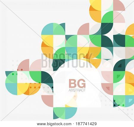Colorful circle elements. template background for workflow layout, diagram, number options or web design