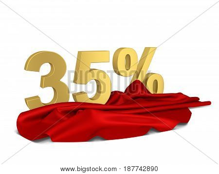 Discount Sign With Cloth Cover